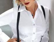 Woman-Dandy Styl / Look very Bowie, řiká se! Ženám sluší kostými i saka, to je bez debat. Tyto prvky původně patřily do šatníku můžu, ale přišel rok 80 a kromě známé kýčovité dekády sebou přinesl i další  změny v dámském šatníku. Klobouky, saka a kalhoty na ženách jsou zase zpět a    plní řádky modních časopisů.
