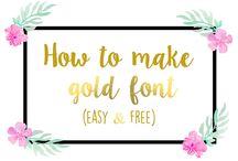 Fonts & lettering / Fonts & lettering