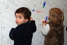 """Colección Cenefas """"pintables"""" IDraw / 4 cenefas infantiles en las que se puede pintar y colorear, para decorar, divertir, compartir, imaginar, crear y disfrutar con y para los niños y niñas."""