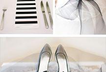 THE MONOCHROME / The monochromatic wedding theme