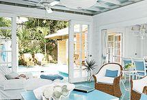 Pool House / Decor ideas for pool houses and coastal living.