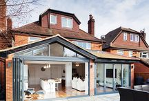 We Love Bifold Doors! / A board showing many types of Bifold doors you could install at your home.
