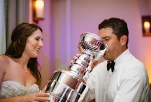 Hockey wedding