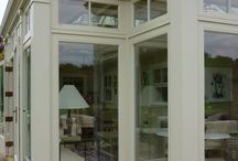 Orangery Pilasters: Just Roof Lanterns / Pilasters are used in orangery designs to give the building more architectural significance and presence. They're also useful to divide / frame what could otherwise be an ordinary run of joinery elements.