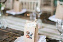 Rustic Winter Wedding / Rustic winter wedding, kraft paper, textile, winter trees, cozy wedding reception