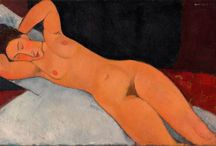 Art - Modigliani, Amadeo Clemente /  Practicing both painting and sculpture. Modigliani was born in Livorno (Leghorn), in  Italy and began his artistic studies in Italy before moving to Paris in 1906. Influenced by the artists in his circle of friends and associates, by a range of genres and art movements, and by primitive art, Modigliani's oeuvre was nonetheless unique and idiosyncratic He died in Paris of tubercular meningitis, exacerbated by poverty, overworking, and an excessive use of alcohol and narcotics, at the age of 35.