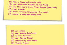 Bucket List Ideas / Thinks I want to see and do while I'm alive!
