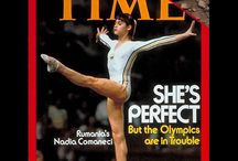 Nadia  Comaneci / She is a gold medalist of The Montreal Olympic games.  She was born in Romania and lives in U.S.A. now.