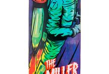 Hero · Miller Division · Longboard / 8 láminas de arce canadiense, direccional, top mount y un cóncavo medio/alto. Freeride Series