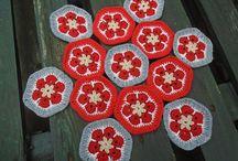 African flowers / Crochet african flowers