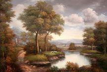 Tableaux paysages / Des toiles de paysages pour un voyage permanent sur vos murs.