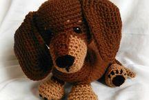 perro salchicha tejido