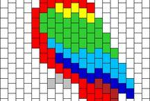 Схемы для мозаичного плетения или вышивки