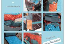 Wickel-/Windel-/Schnuller- Tasche und Unterlage