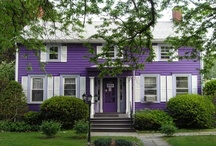 Purple Houses & Doors