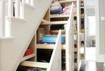 Storage ideas / Genius stair storage idea...