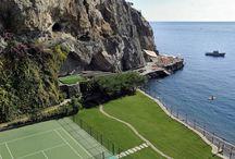 Canchas de tenis idílicas