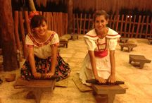 Preparing Xocoatl at Parque Xcaret / Making chocolate from the beans just like the Maya did and still do in some parts of México.
