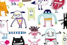 Illustrationen / Illustrationen, die mich inspirieren und mir ein Lächeln entlockt haben. :-)