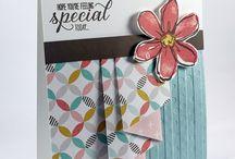 Drape curtain handmade card pattern