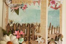 Scrapingen kortene som jeg laget den 04-06-2017 På Horten Hobby / Jeg har lage to kort fra Studiolights utstanseblokk Romantic Vintage  Som jeg vare på Kurs i Kortlaging med Mona Hauge i dag på Horten Hobby den 04-06-2017 ✉