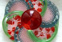 Gombok (üveg,festett)