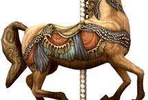 körhinta lovak