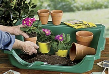 """""""Portable Potting Tray"""" / Perfect for seedlings, repotting and transplanting. Easy grip, handles for portability, carry your tray anywhere"""