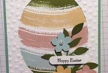 stampin'up easter cards