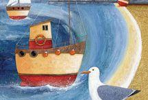 Sea Harbor  paint