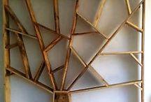 libreria albero / library home made / crafts / libreria realizzata con assi di recupero utilizzabile anche come parete divisoria realizzabile su misura con varie finiture e legni