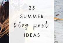 Blog post ideas / Ideas to write blog posts about, titles, pictures and tips