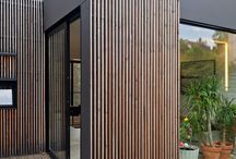 Cladding modern house
