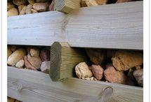 Muros de contención de madera