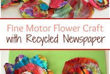 recycled newspaper flowers