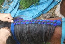 draft horse mane and tail decos