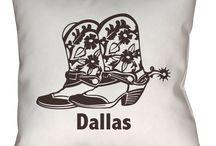 Dallas, Texas Throw Pillows