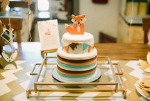 Fox or Woodland Baby Shower Ideas / Inspiration for throwing a fox or woodland baby shower theme