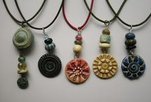 Necklaces / Necklaces featuring pendants and beads by Mary Welsh Hubbard www.whitecloverkiln.com