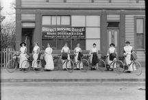 Historic or vintage cycling women