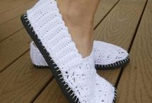 shoes crochetted