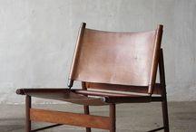 Retro leather arm chair