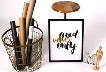 Good Vibes Only / http://mmhd.eu/kategoria/gold-prints