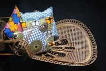 WaxinDeco - Housses de coussin / Decoration ethnique - Des housses de coussins en tissu imprimé africain ou tissu wax