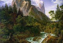 hegyek vizeséssel