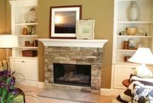 Fire place and Shelves