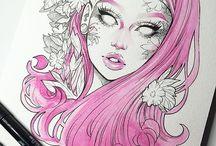 розовые цвет