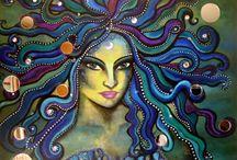 Artist Mara diop / Mixed media art