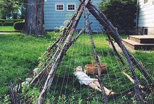 espaços lúdicos no jardim