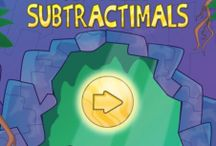 Subtractimals / Subtractimals is the eagerly awaited follow-up to Addimal Adventure, a 2014 Apple Design Award winning app. The sinister Professor Possum makes his return in Subtractimals. In this app, kids use subtraction strategies to help Patooey and her cousin, Slurp stop his latest evil plan.